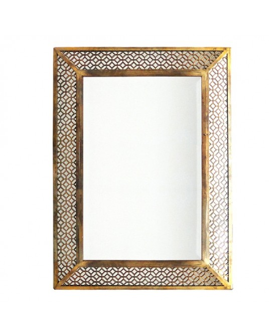Trellis Gold Mirror