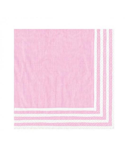 Napkins Stripe Pink