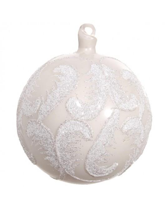 Bola Plumas Branco10 cm