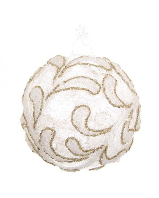 Bola ormanent branca 8 cm
