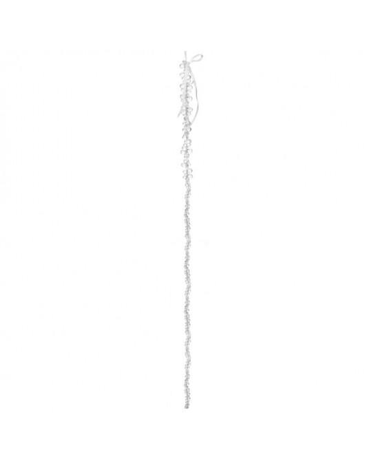 Wire heart White Ribbon 9 cm