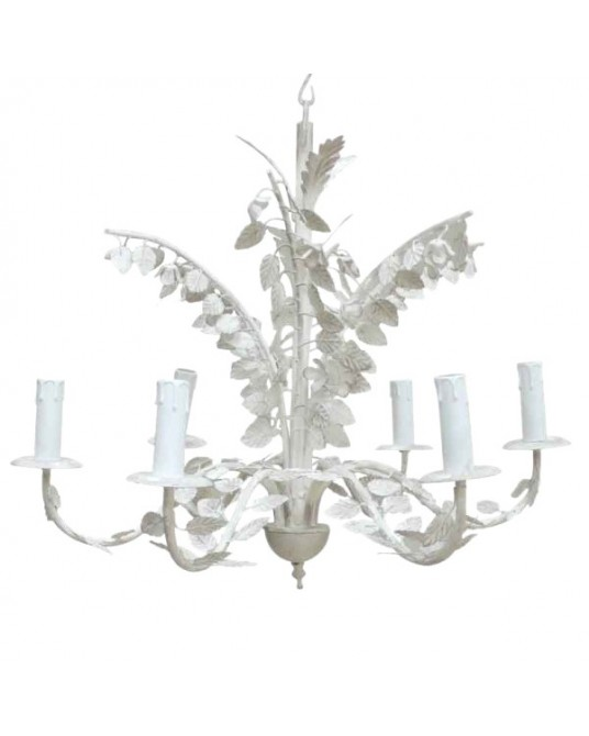 Chandelier White Leafs