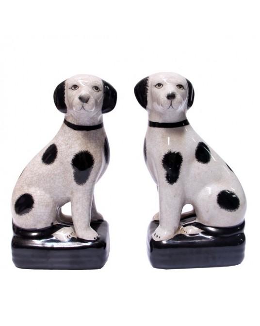 Cão Ingles Branco e Preto - 1 un