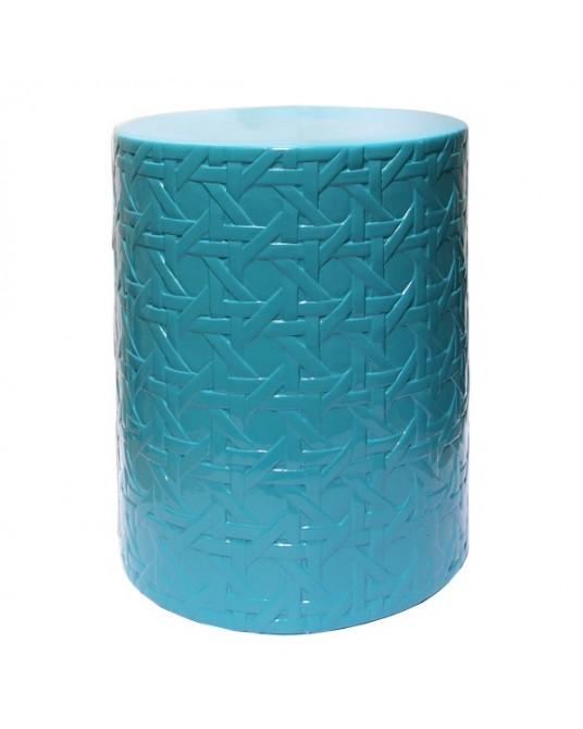 Tamborete Lattice Turquoise