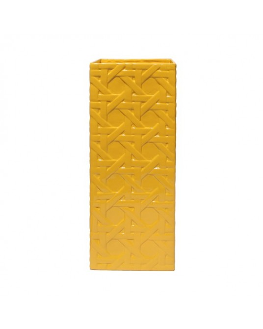 Vase Lattice Yellow Alta