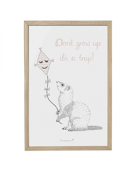 "Quadro ""Dont grow up"""