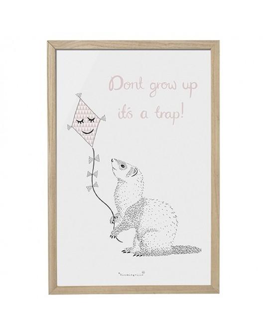 "Quadro ""Dont grow up"""
