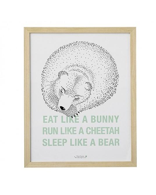 "Quadro ""Eat Like a Bunny"""