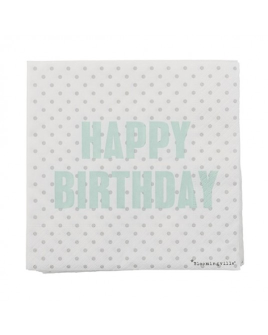 "Napkins ""Happy Birthday"""