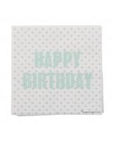 "Guardanapos ""Happy Birthday"""
