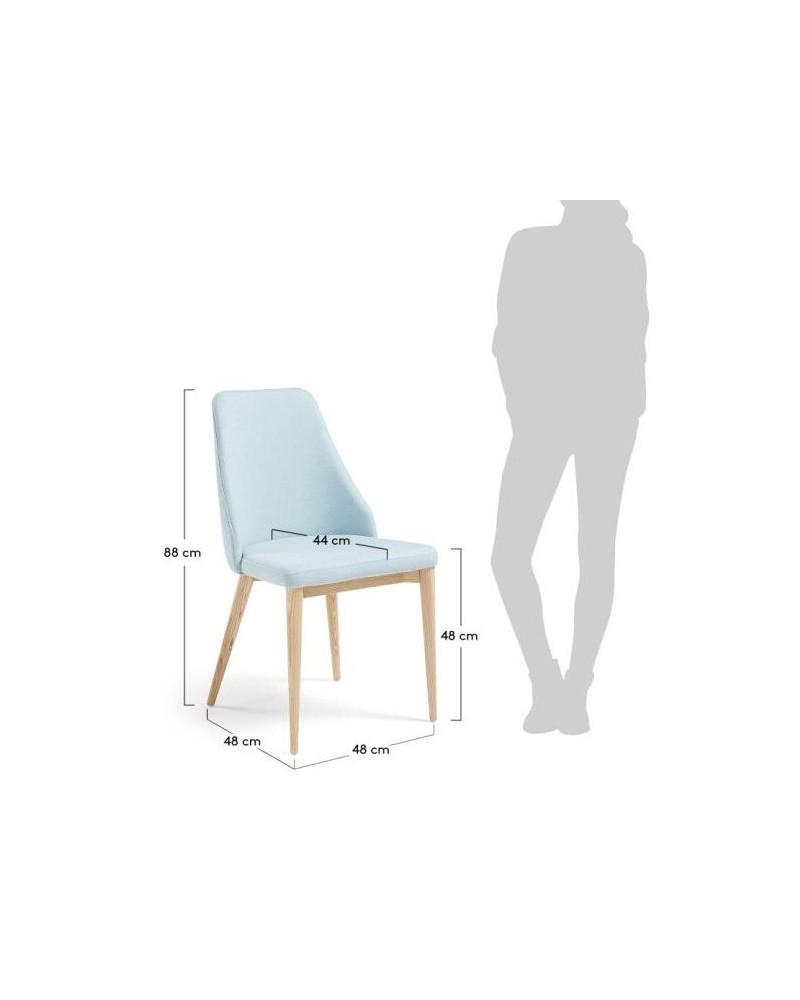 Cadeira Roxie Tecido Cinza Escuro