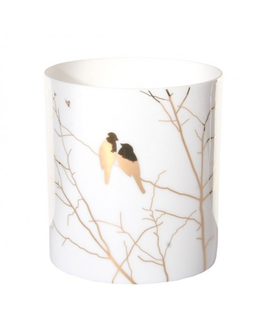 Copo T-light Gold Birds on branches