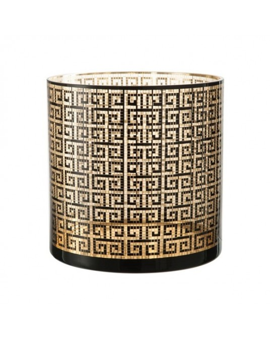 "Porta Velas ""Black Gold Greek"""