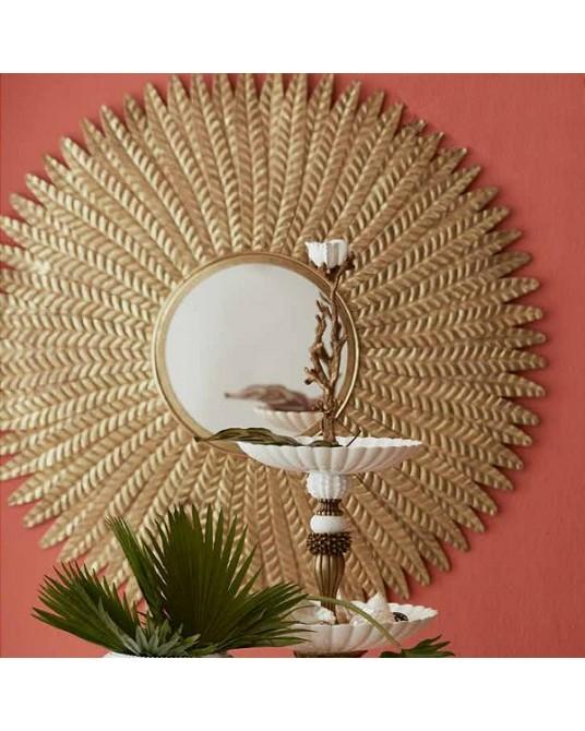 Espelho Feathers Gold