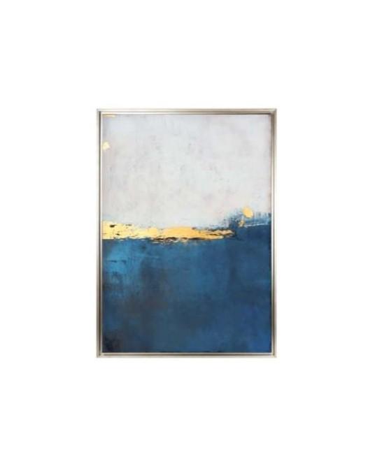 Canvas Blue Gold