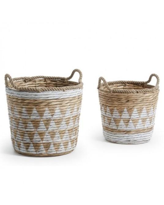 Basket Maori Black Natural M