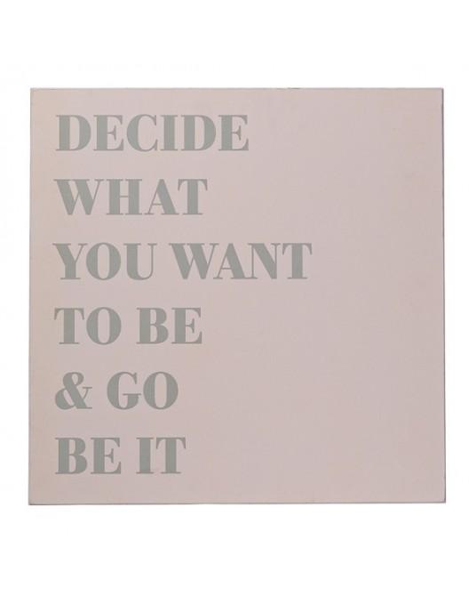 """Placa """"Decide What"""""""
