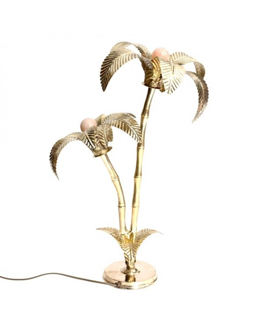 Lamp Double Palm Gold