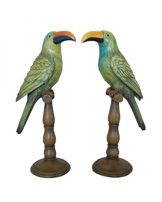 Set 2 Tucanos Pedestal