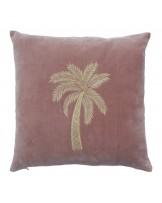 Palm Gold Veludo Rosa