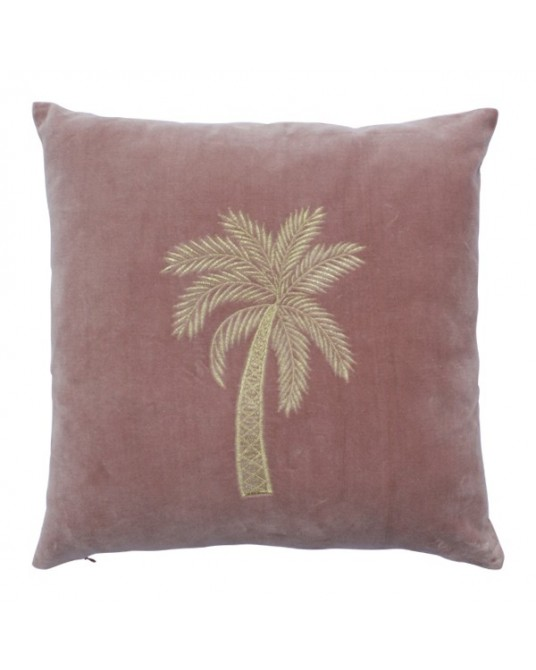 Palm Gold Veludo Rosa