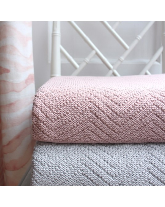 Blanket Chevron Mellow Rose