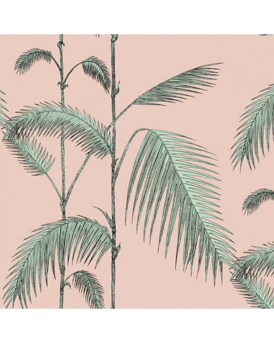 Wallpaper Palm Leaves Pink