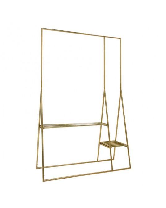 Brass clothing rack