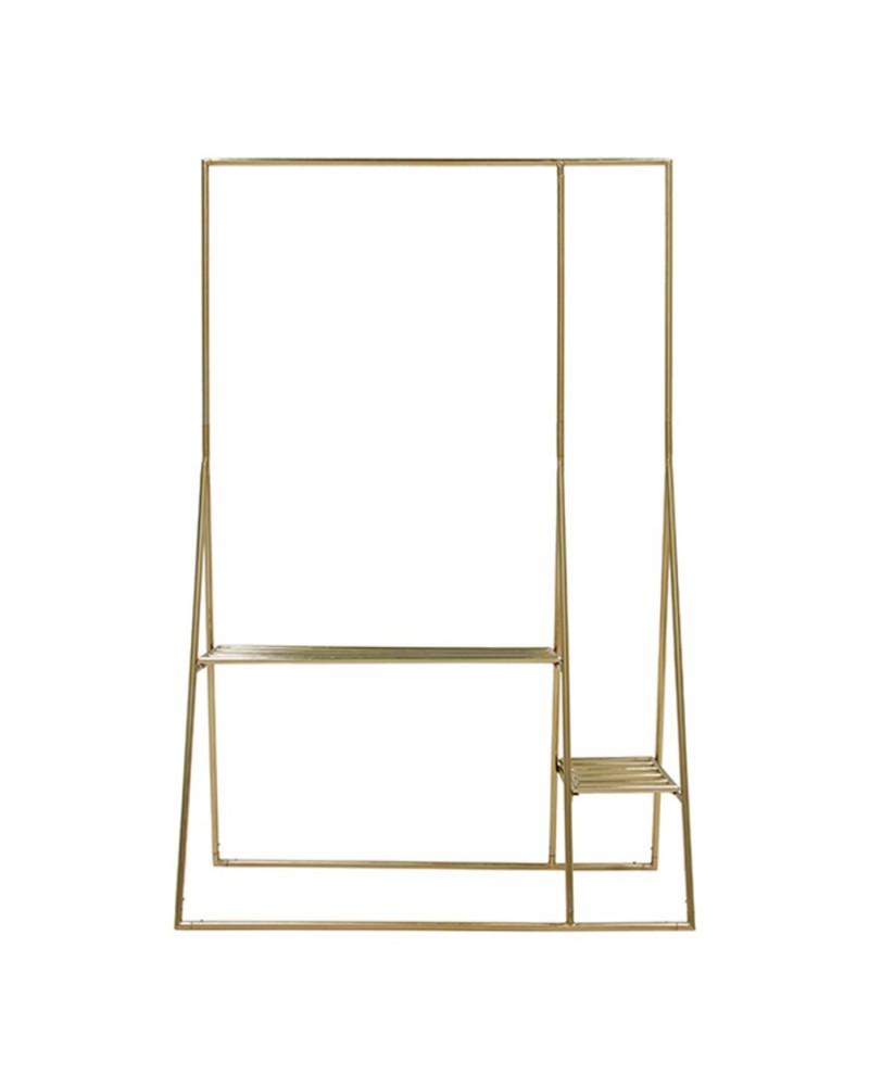 Porta Cabides Dourado