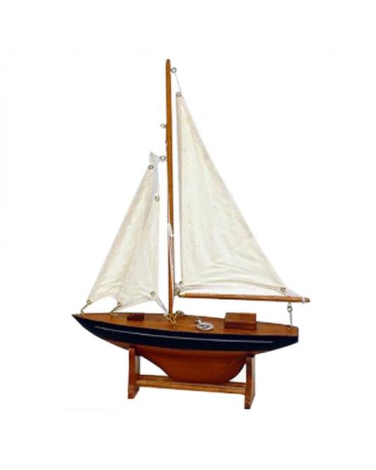 Small Sailing Boat Black