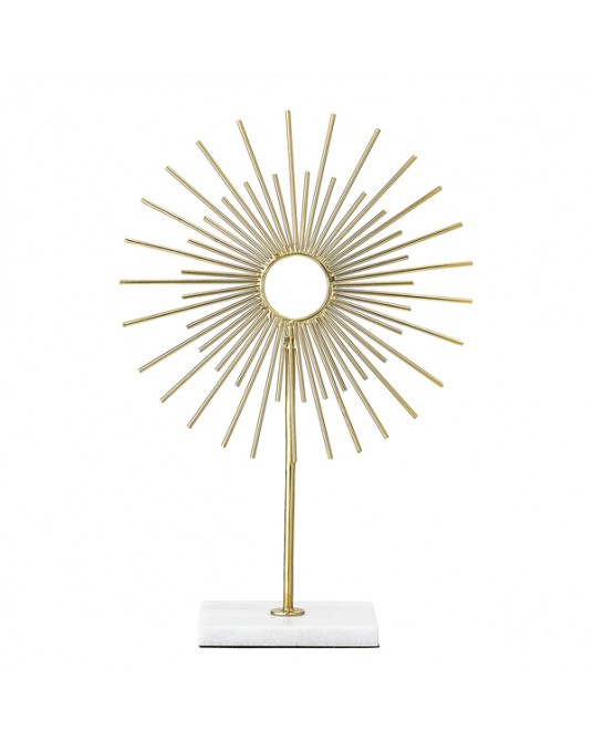 Pedestal Sunburst Gold