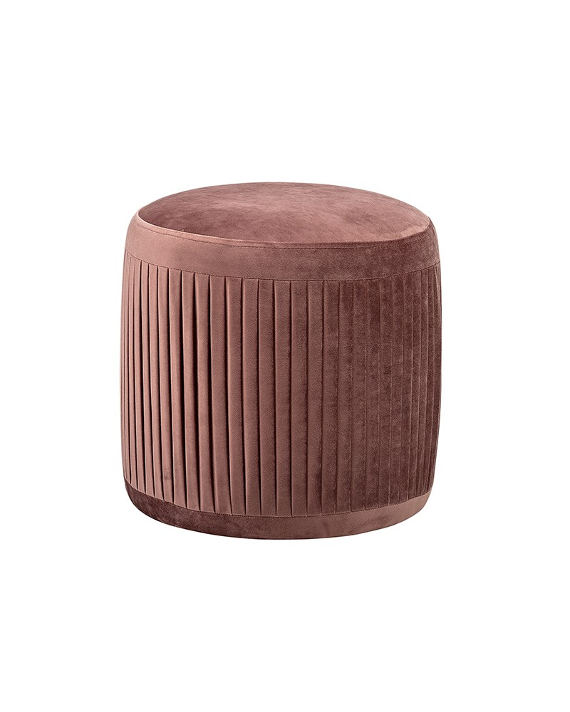 Pouf Pleat Rose