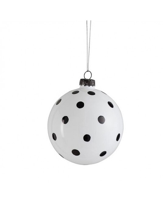 Ball Polka Dots Black White S