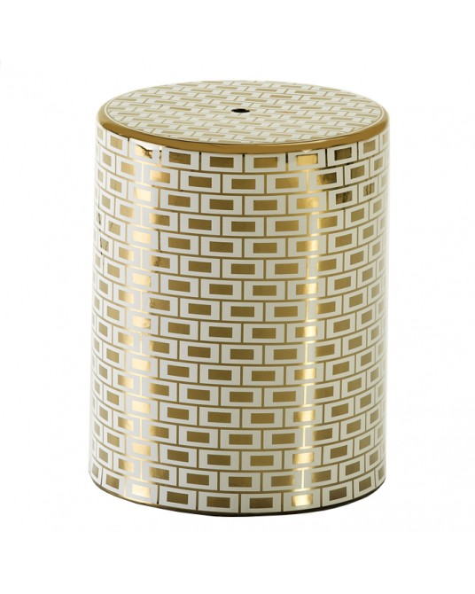 Ceramic Stool Gold Metropolis