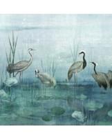 Papel Parede Waterside Aqua