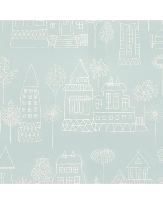Wallpaper Kaspar Turquoise
