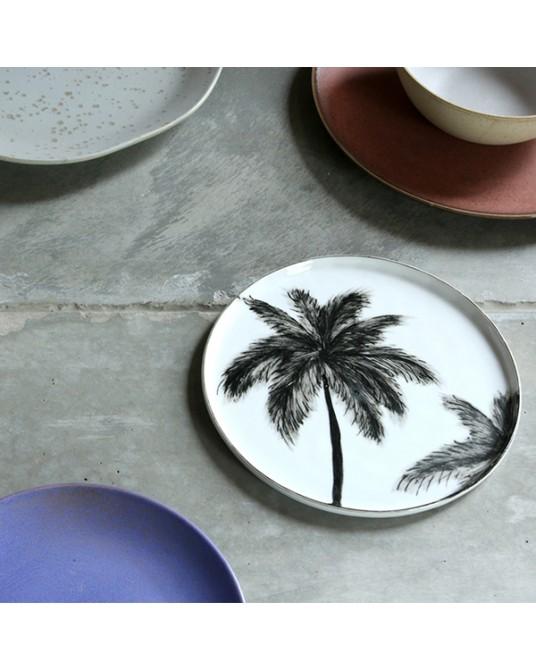 Plate Black Palm S