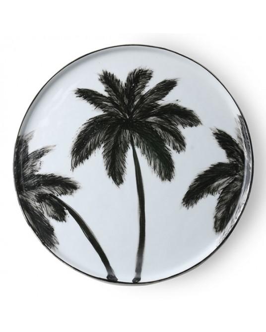 Plate Black Palm