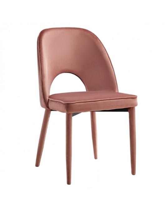 Leandra Velvet Pink Chair
