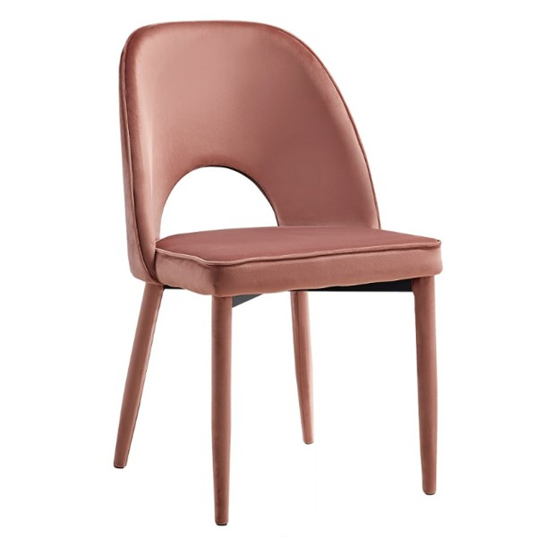 Cadeira Leandra Veludo Rosa