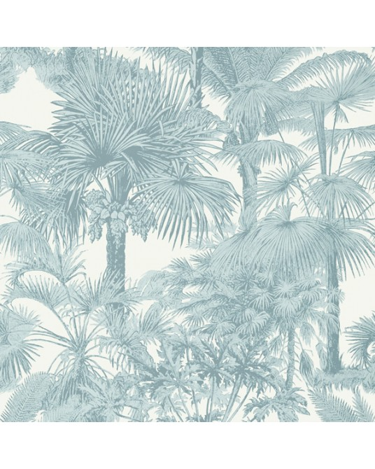 Wallpaper Palm Botanical Spa Blue