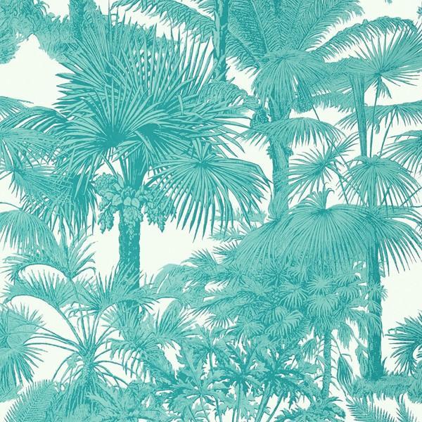 Papel de Parede Palm Botanical Turquoise