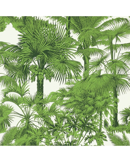 Papel de Parede Palm Botanical Emerald Green