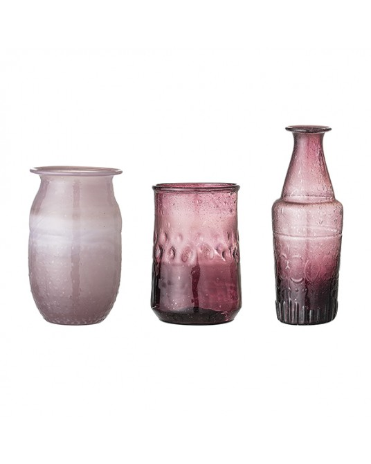 Set 3 Vases Kella Purple