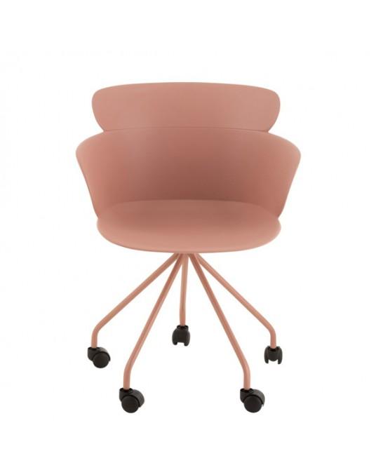 Chair Salma Wheels Pink