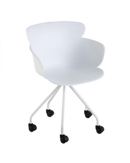 Chair Salma Wheels White