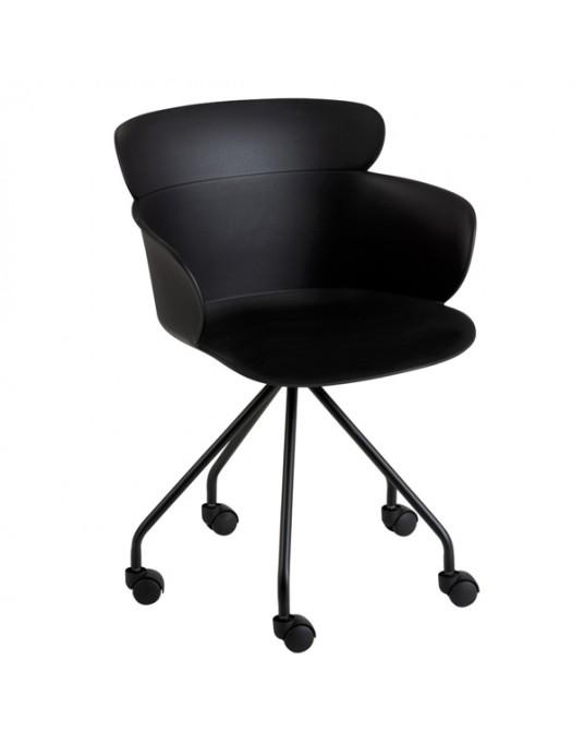 Chair Salma Wheels Black