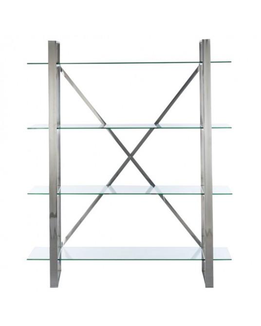 Bookcase Silver Verona