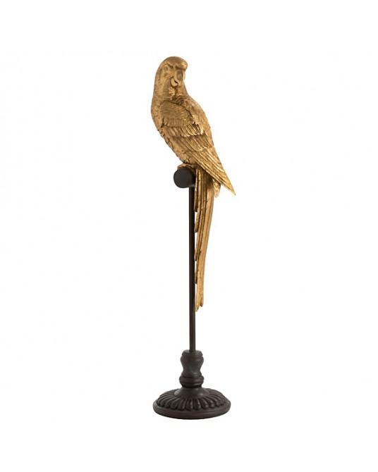 Golden Parrot Pedestal