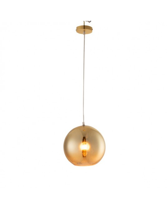 Gold M Ball Ceiling Lamp